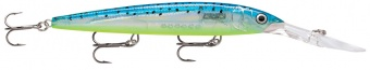 воблер rapala down deep husky jerk 2,4-5,7м, 12см, 15гр, цвет: gbm